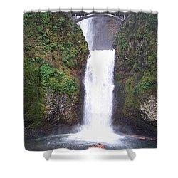 Lower Multnomah Falls Shower Curtain