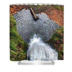 Lower Multnomah Falls From Benson Bridge - Columbia Gorge Shower Curtain by Gary Whitton