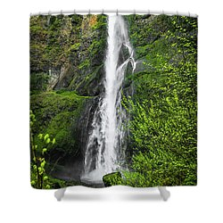 Lower Multnomah Falls Shower Curtain