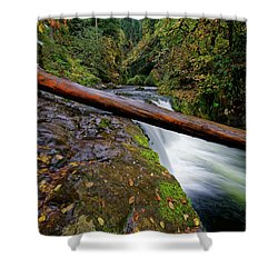 Shower Curtain featuring the photograph Lower Punch Bowl Falls by Jonathan Davison