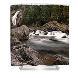 Shower Curtain featuring the photograph Lower Twin Falls by Jeff Swan
