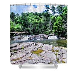 Lower Waterfall View Shower Curtain