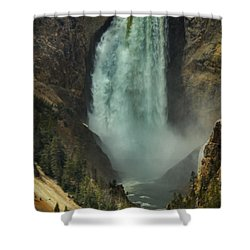 Shower Curtain featuring the photograph Lower Waterfalls by Robert Bales