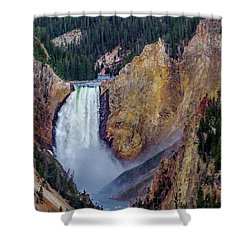 Shower Curtain featuring the photograph Lower Yellowstone Falls II by Bill Gallagher