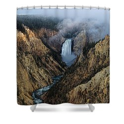 Lower Yellowstone Falls Sunrise Shower Curtain