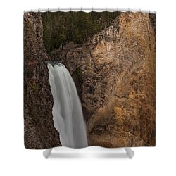 Lower Yellowstone Waterall Shower Curtain