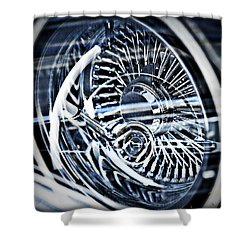 Lowrider Wheel Illusions 1 Shower Curtain