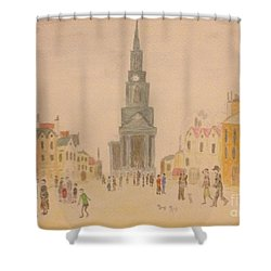 Lowry And Shadow Of Japan Shower Curtain by Sawako Utsumi