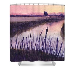 Loxahatchee Sunset Shower Curtain by Donna Walsh
