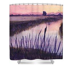 Loxahatchee Sunset Shower Curtain