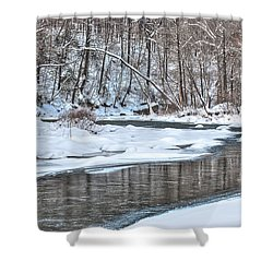 Shower Curtain featuring the photograph Loyalhanna Creek - Wat0100 by G L Sarti