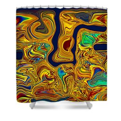 Shower Curtain featuring the painting LSD by Omaste Witkowski