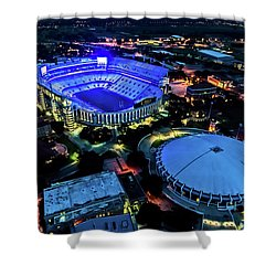 Lsu Tiger Stadium Supports Law Enforcement Shower Curtain by Andy Crawford