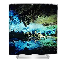Lu Di Cave Shower Curtain by Rita Ariyoshi - Printscapes