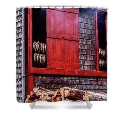 Lubec Smokehouse Shower Curtain