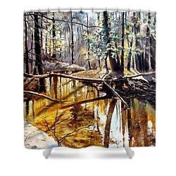 Lubianka-2-river Shower Curtain