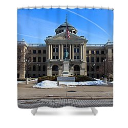 Shower Curtain featuring the photograph Lucas County Courthouse I by Michiale Schneider