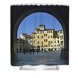 Lucca Piazza Shower Curtain