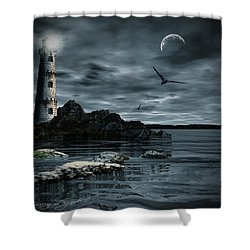 Lucent Dimness Shower Curtain by Lourry Legarde