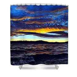 Lucerne Sunset Shower Curtain