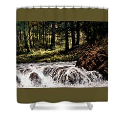 Lucia Falls In July Shower Curtain