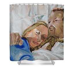 Lucian And Kate I Shower Curtain by Bachmors Artist