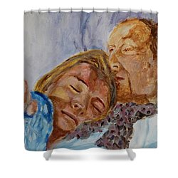 Lucian And Kate IIi Shower Curtain by Bachmors Artist