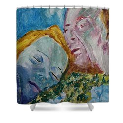 Lucian And Kate Iv Shower Curtain by Bachmors Artist
