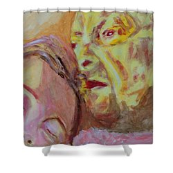 Lucian And Kate V Shower Curtain by Bachmors Artist
