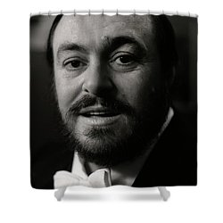 Luciano Pavarotti Shower Curtain