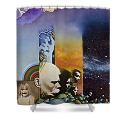 Lucid Dimensions Shower Curtain by Cliff Spohn