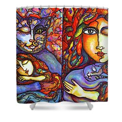 Lucid Dreams Shower Curtain by Rae Chichilnitsky