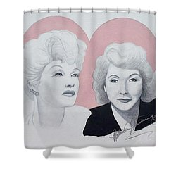 Lucille And Vivian Shower Curtain