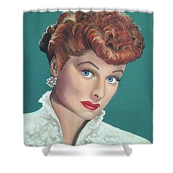 Lucille Ball Shower Curtain by Tom Carlton