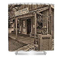 Luckenbach, Tx Post Office Shower Curtain