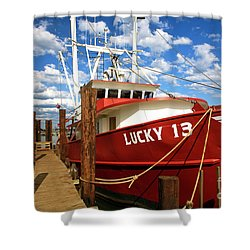 Lucky 13 Shower Curtain