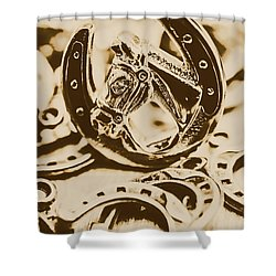 Lucky Cowboys Charm Shower Curtain by Jorgo Photography - Wall Art Gallery
