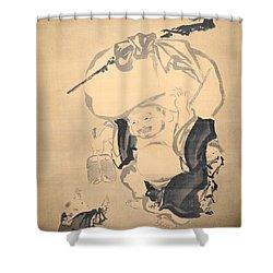 Lucky Gods Hotei Shower Curtain