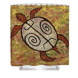 Shower Curtain featuring the painting Lucky Honu by Darice Machel McGuire