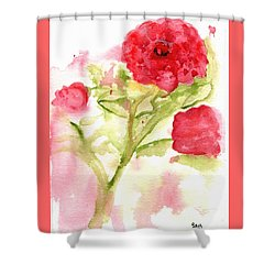 Lucky Rose Shower Curtain