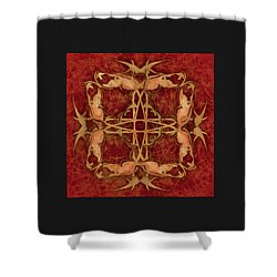 Lucky Zen Fly Bi Shower Curtain