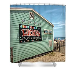 Shower Curtain featuring the photograph Luckys At Jenkinsons South by Kristia Adams