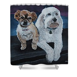 Lucy And Colby Shower Curtain
