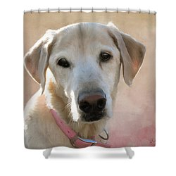Lucy In Pink Shower Curtain