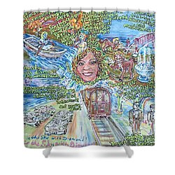 Lucy In The Sky With Diamonds Shower Curtain
