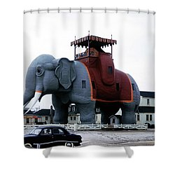 Lucy The Elephant 2 Shower Curtain
