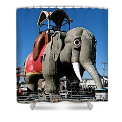 Lucy The Elephant Shower Curtain by Ira Shander