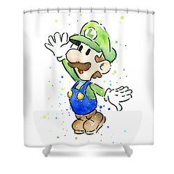 Luigi Watercolor Shower Curtain