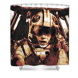 Luke Snowalker Shower Curtain