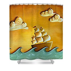 Lullaby Bay Shower Curtain by Cindy Thornton